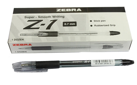 Zebra Z1 0.7mm Fine Ball Point Pen- Colour Choice