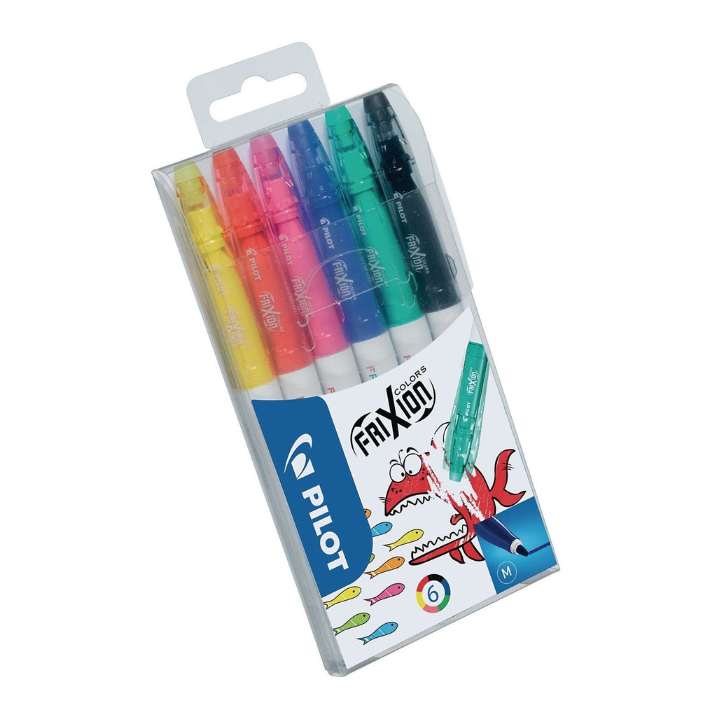 Pilot Frixion Colors Erasable ink Felt Tip Pens- Pack of 6