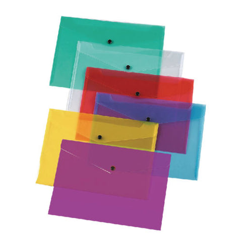 Press Stud A4 Plastic Polypropylene Stud Wallets Files Folders Colour and Quantity Choice