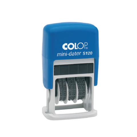 Colop S120 Mini Dater Stamp - Black Self Inking Stamp