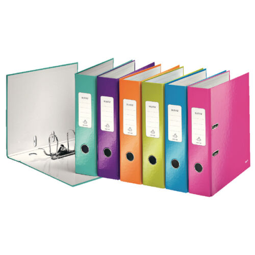 Leitz Wow Lever Arch File A4 50mm Assorted- Pack of 10