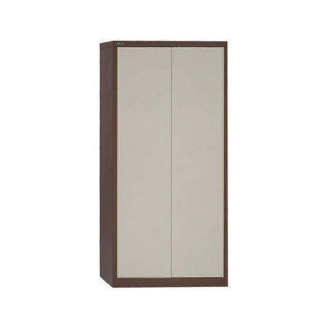 Large Office Metal Cupboard Tall 2 Door Coffee/Cream