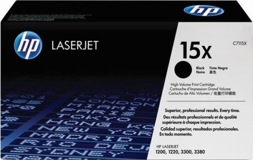 HP 15X Black Ink Cartridge Toner- High Yield