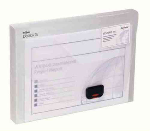 Snopake Clear Document Box A4- 25mm Capacity