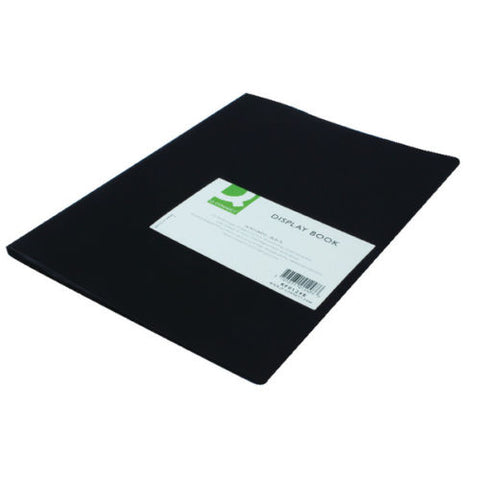 Q Connect Black A4 Display Book/ Presentation Folder- 10, 20, or 40 Pockets