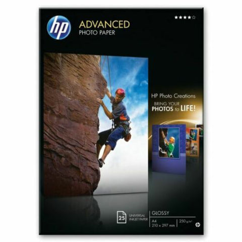 HP Advanced A4 Glossy Inkjet Photo Paper 250gsm - Pack of 25 Sheets