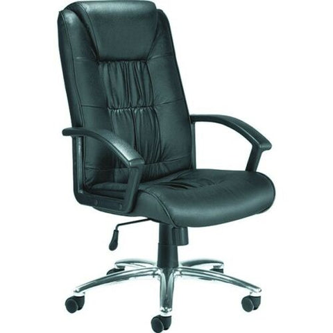 Jemini Tiber Leather Faced Executive Black Chair- Adjustable Height and Angle