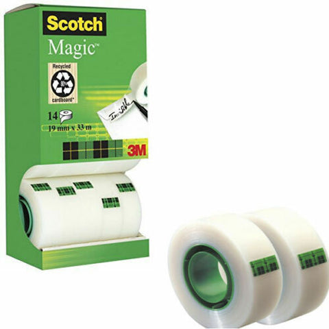 Scotch Magic Tape Value Pack 19mm x 33m- Pack of 12, Plus 2 Free