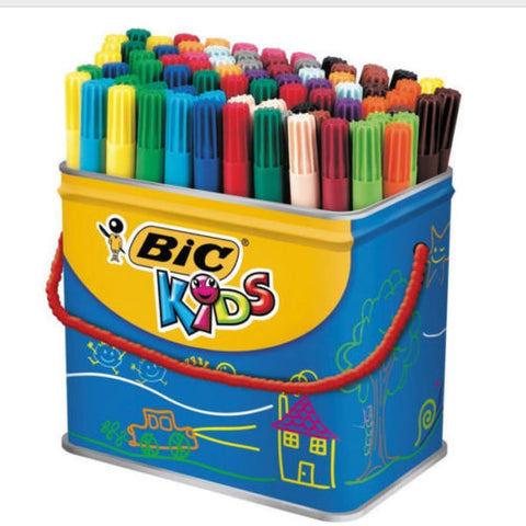 Bic Kids Visa Colouring Felt Tip Pens- Pack of 84