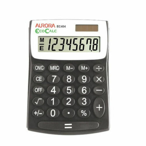 Aurora EC404 Semi-Desktop RE-CYCLED 12 digit calculator