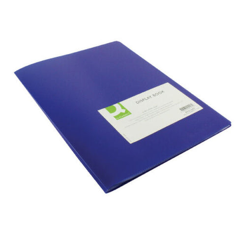 Q Connect Blue A4 Display Book/ Presentation Folder- 10, 20, or 40 Pockets
