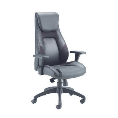 Avior Managers Chair Veloce Mesh and Leather Look- Adjustable Back Support