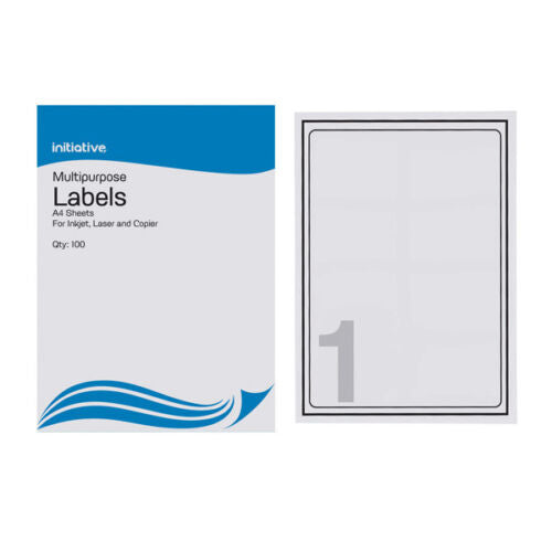 Inkjet Laser Multi Purpose Labels Sheets Of 100- Choice Of Label Size