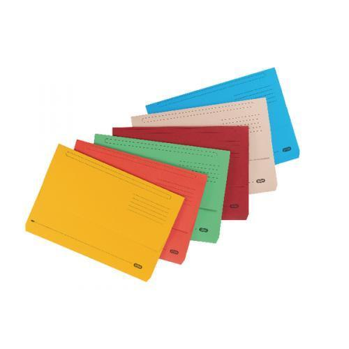Elba Strongline FC Document Wallets Assorted- Pack of 10