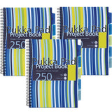 Pukka A4 Project Notebooks Multi Coloured- Pack of 3