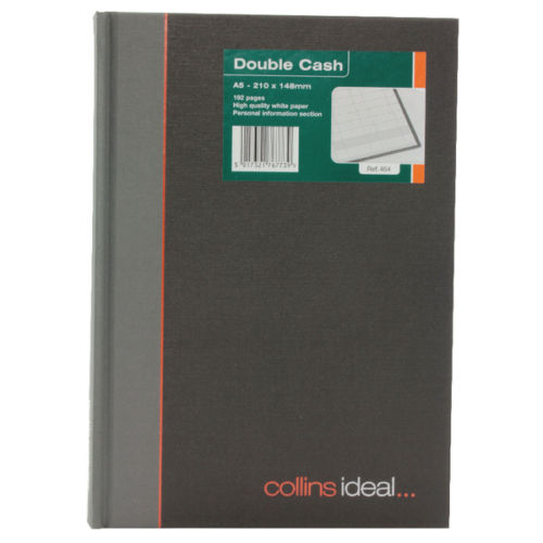 Collins Ideal Book A5 Double Cash 192 Pages