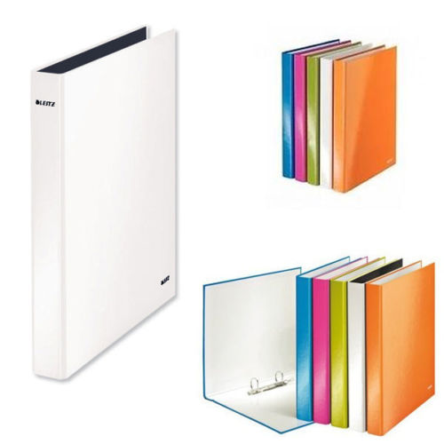 Leitz WOW A4 Plus 2 D-Ring Binder 25mm Assorted- Pack of 10