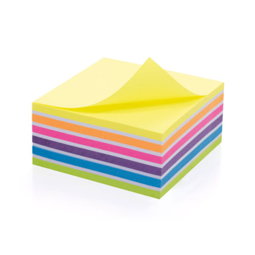 Initiative Neon Sticky Notes Cube 76 x 76mm- 400 sheets