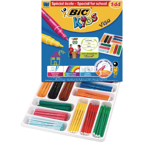 Bic Kids Visa Colouring Felt Tip Pens- Pack of 144