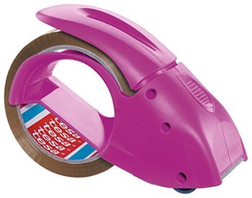 Tesa Pack-n-Go Hand Packaging Tape Dispenser - Pink