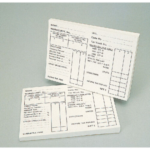 Guildhall Pre-Printed PAYE Wage Slip- Pack Of 2 (100 Sheets Per Pad)