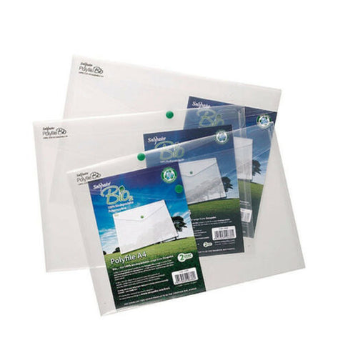 Snopake Bio Polyfile A4 Clear 100% Biodegradable - Pack of 5