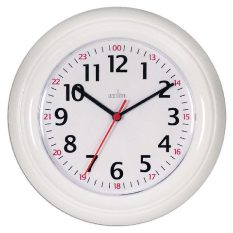 Acctim Wexham 24 Hour Wall Clock- White