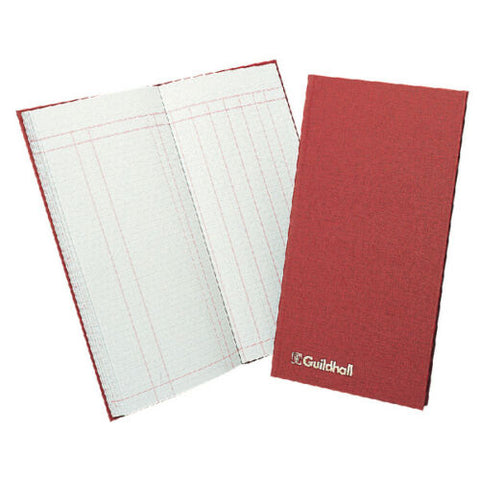 Guildhall Petty Cash Book T272 Red Cover 298 x 152mm- 80 pages