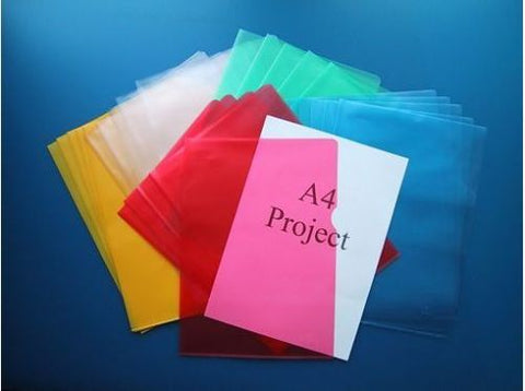 Coloured Plastic A4 Cut Flush Folders- Colour And Quantity Choice