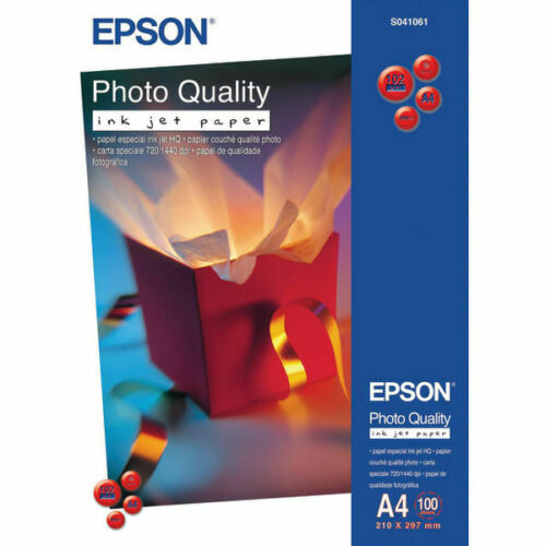 Epson A4 Matte Photo Quality Inkjet Paper 102gsm - 100 Sheets