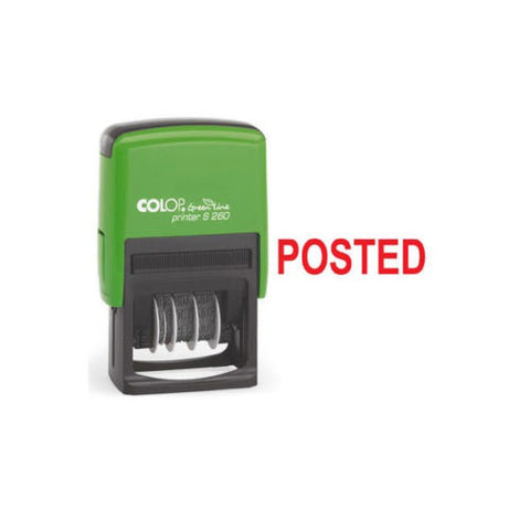 Colop Green Line Word self-inking Stamp- POSTED