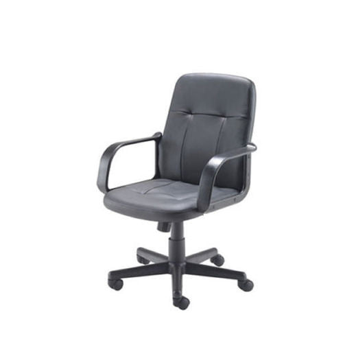 Jemini Trent Leather Look Black Chair Arms & Adjustable Height & Angle