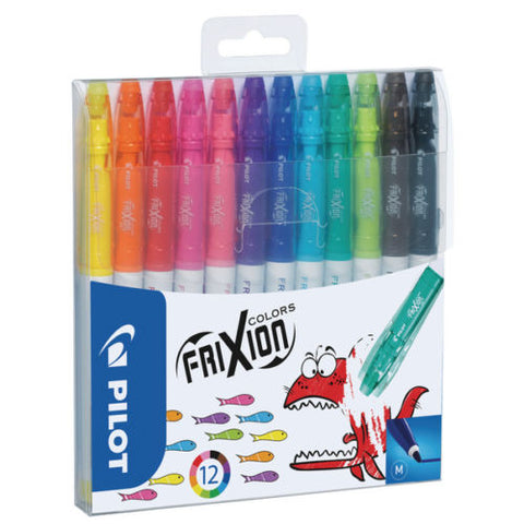 Pilot Frixion Colors Erasable Fiber Tip Colouring Pen - Assorted, Pack of 12