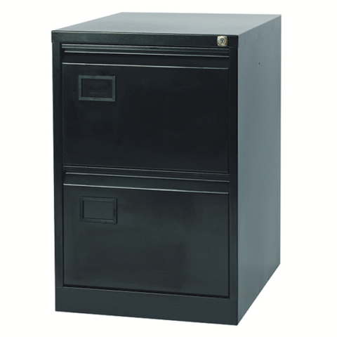 Filing Cabinet 2 Drawer In Black