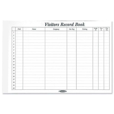 Concord Visitors Book Refill Pad (85710/ CD14P)