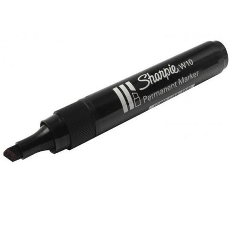 Sharpie Chisel Pen Permanent Marker Black Ink W10- Quantity Choice