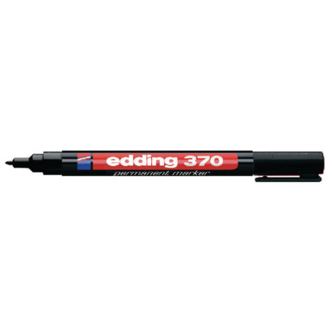 Edding 370 Black Permanent Marker Fine- Pack of 10