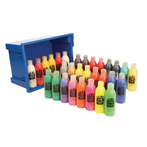 Poster Paint Brain Clegg Washable Ready Mixed 30 x 300ml Bottles