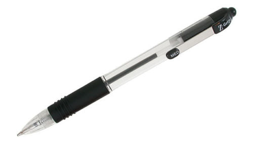 Zebra Z-Grip Retractable 1.0mm Tip Ballpoint Pen Black- Quantity Choice