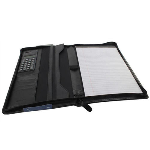 Monolith Conference Folder With A4 Pad and Calculator- Black