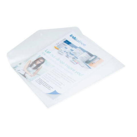 Clear Popper Plastic A4 Document Wallet- Pack of 10