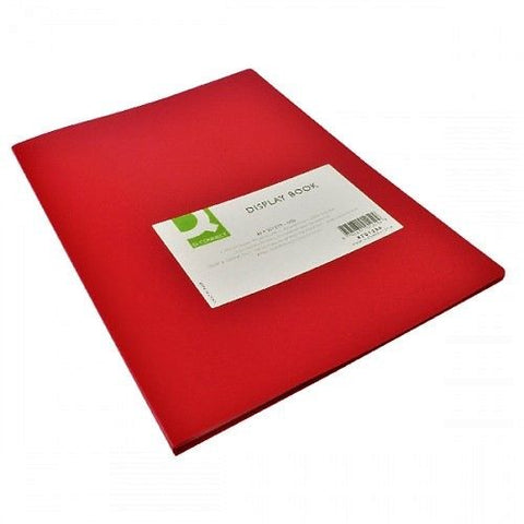 Q Connect Red A4 Display Book/ Presentation Folder- 10, 20, or 40 Pockets