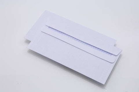 Envelopes DL 80gsm Self Seal White Plain Box 1000