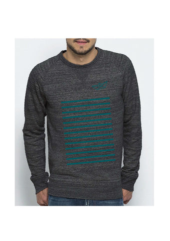 Sweat mixte MARINIERE GRIS FONCE