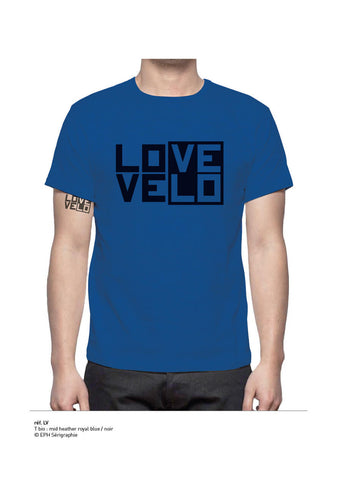 T-shirt LOVE/VELO BLEU Royal HOMME
