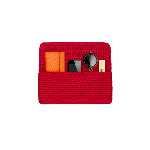 "Pochette ""Mademoiselle Incroyable "" rouge"