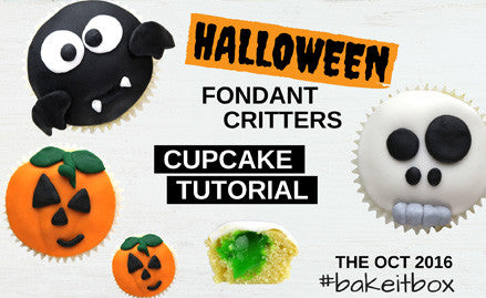 Halloween cupcakes | Step-by-step tutorial on making your own cute Halloween critters toppers