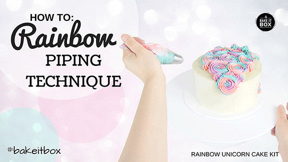 Easy rainbow piping technique