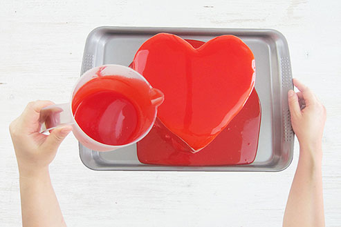 Mirror Glaze Heart Cake Tutorial | Feb 2018