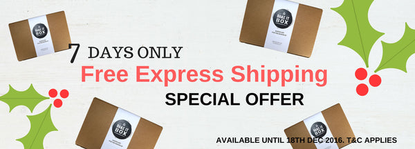 Free Express shipping for One week only on all Bake It Box Orders